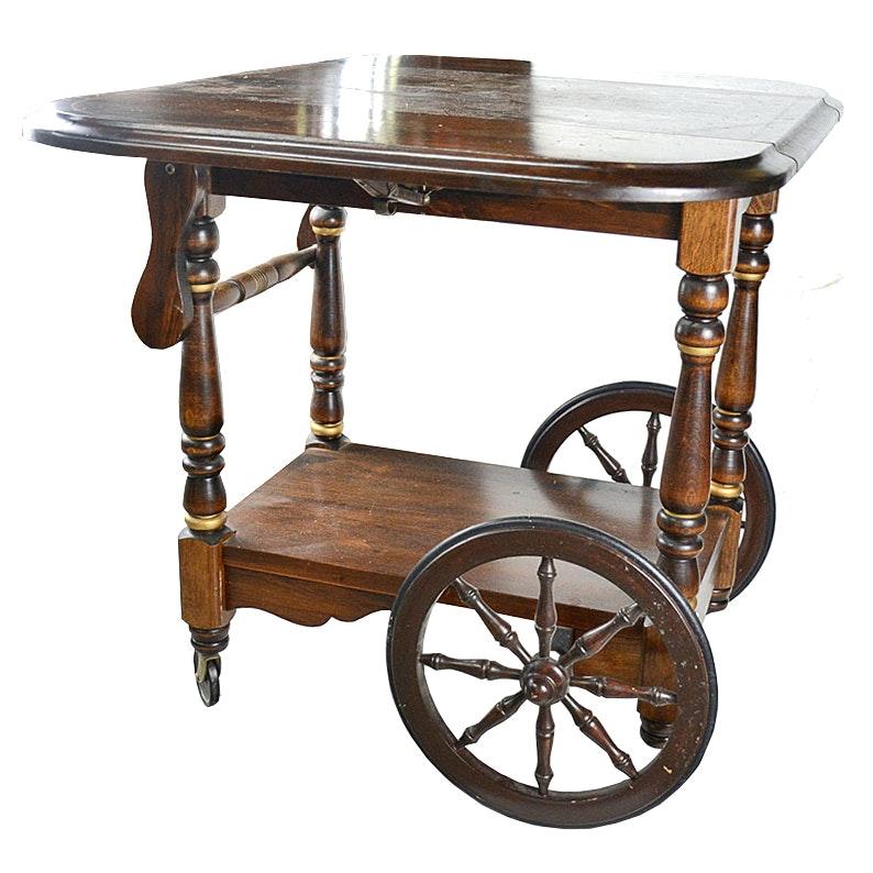 Antique Walter Of Wabash Drop Leaf Tea Cart ...