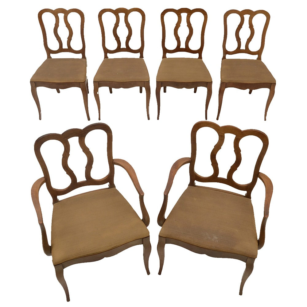 Six Hollywood Regency style Dining Room Chairs EBTH