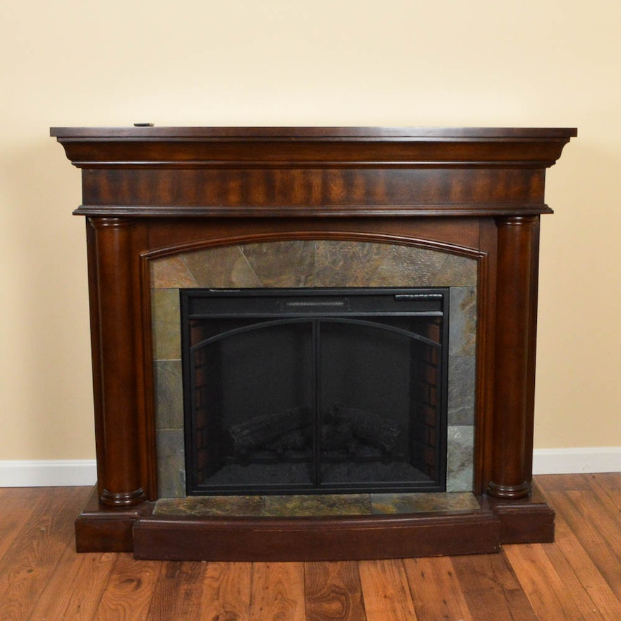 A TwinStar electric fireplace. This electronic fireplace