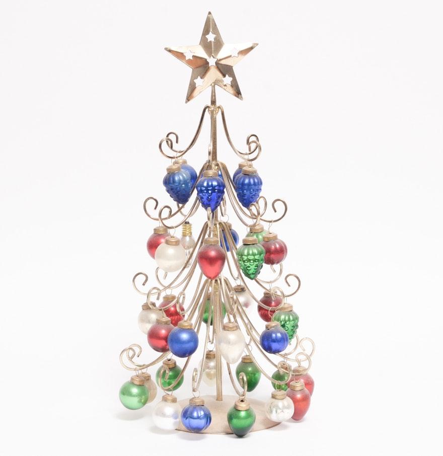 Christmas tree ornament display - Brass Christmas Tree Ornament Display
