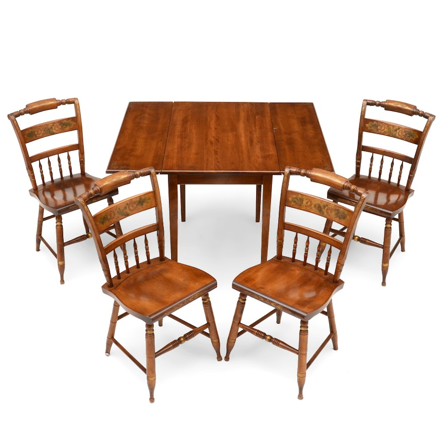 Set Of Hitchcock Table And Chairs