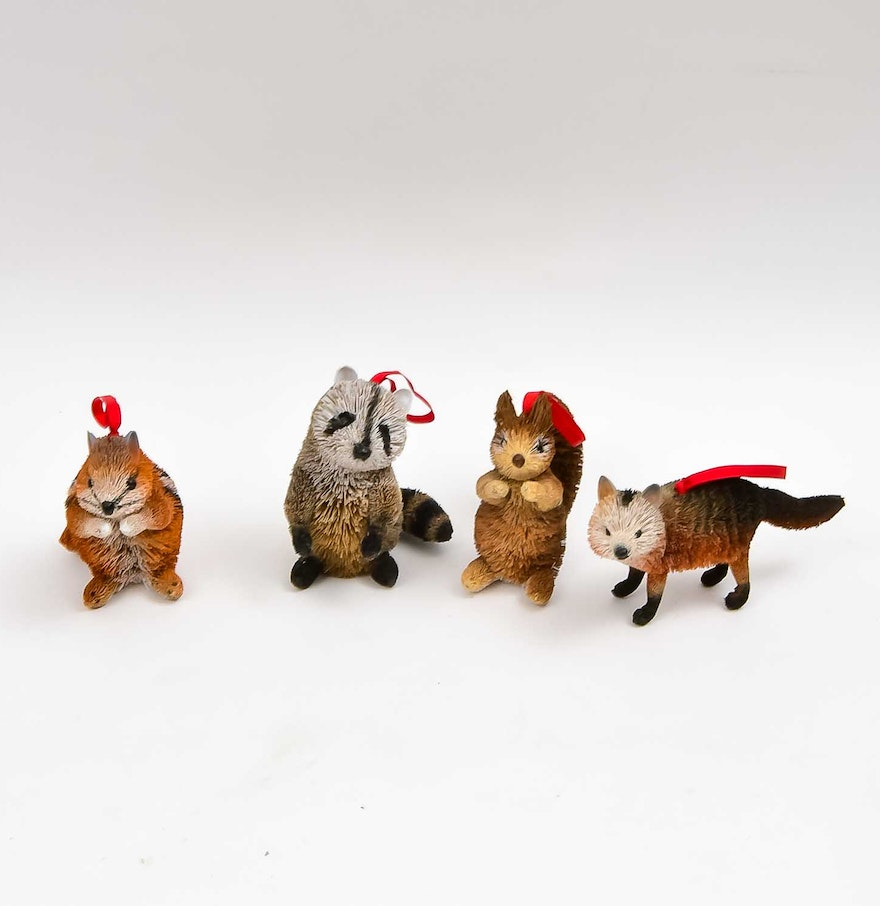 Bottle brush woodland animals - Woodland Creature Bottlebrush Ornaments