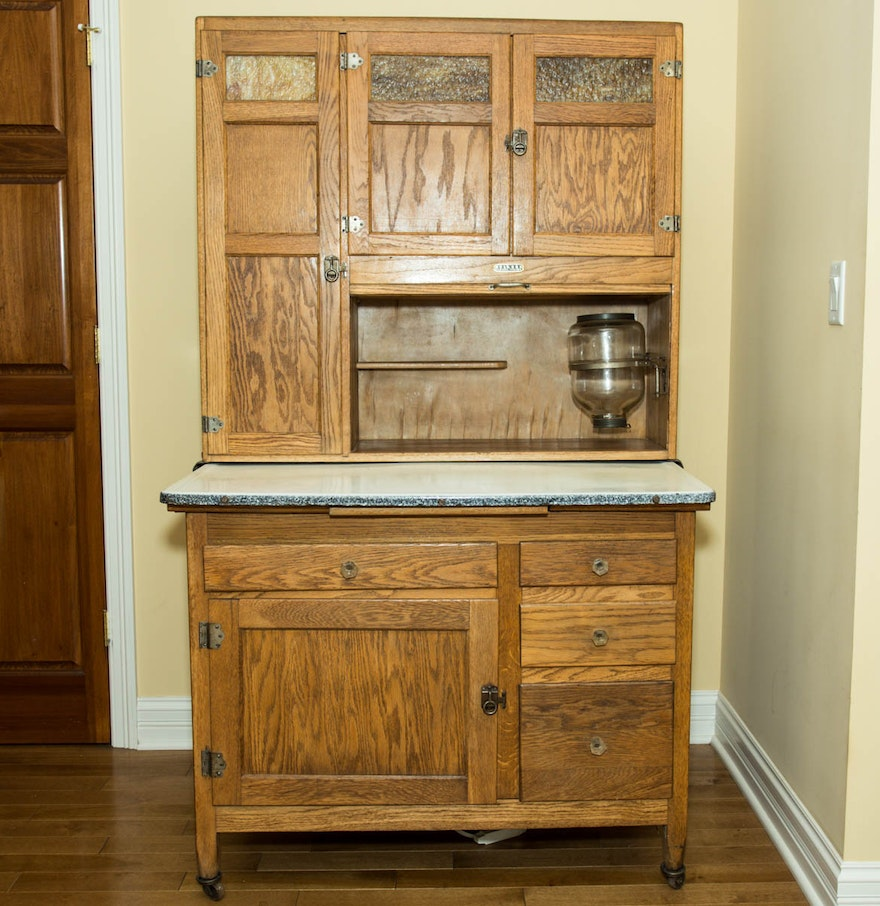 1920 39 s hoosier style seller 39 s kitchen cabinet ebth for 1920 kitchen cabinets