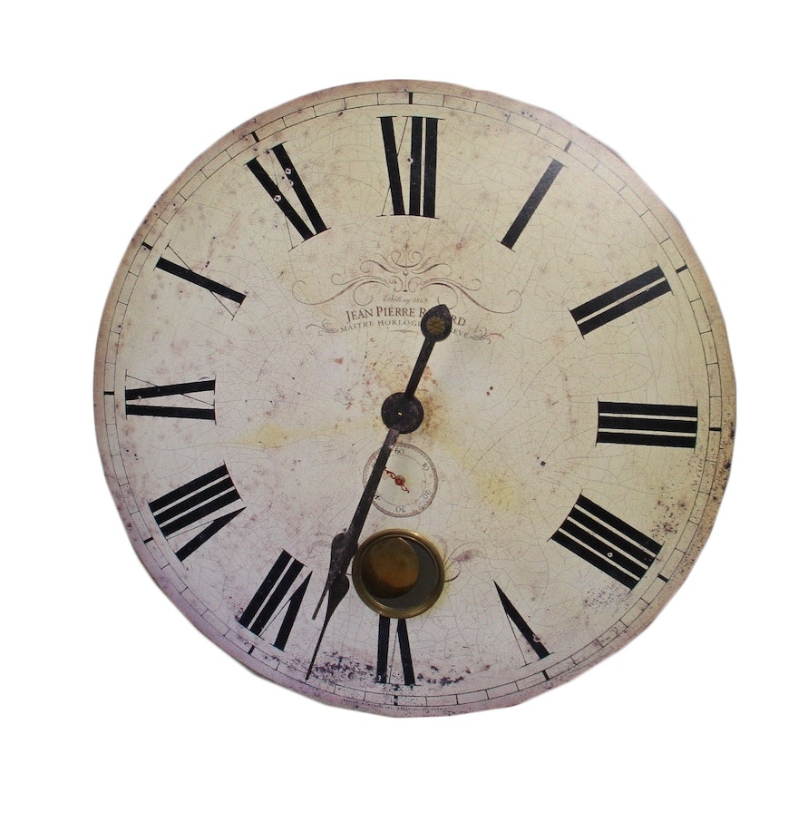 Battery operated faux antique wall clock ebth battery operated faux antique wall clock amipublicfo Gallery