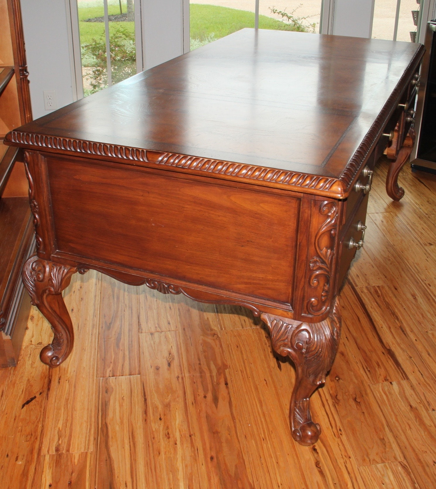 """""""seven Seas"""" Executive Desk By Hooker Furniture  Ebth. Best Non Desk Jobs. High Table. Desks That Raise. Personal Desk Calendar. Tall Mirrored Chest Of Drawers. Deck Tables. Crib Drawers Underneath. Apple Desk Accessories"""