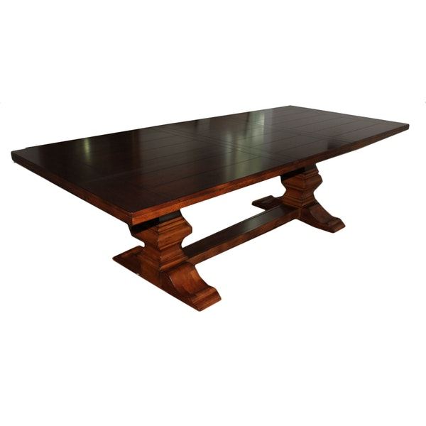 double pedestal base dining table with leaf ebth