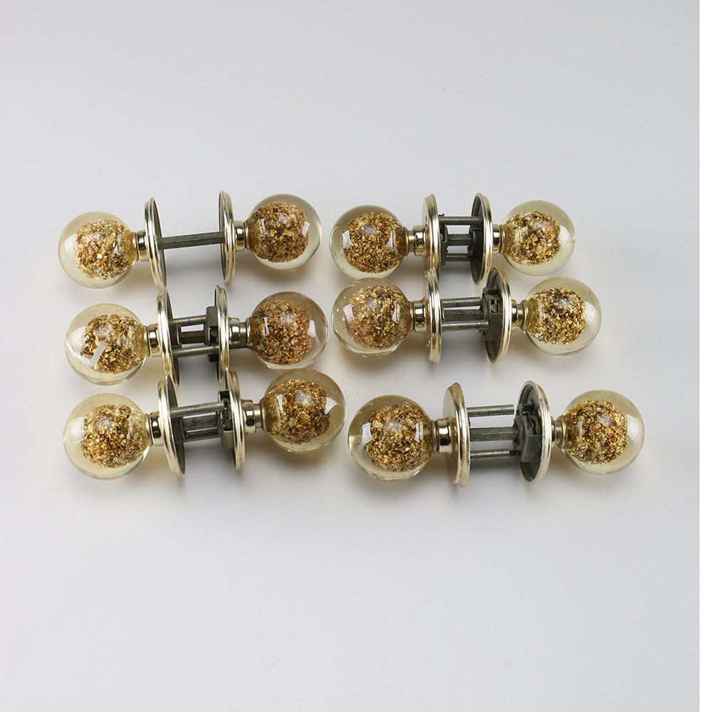 1960s Weiser Lucite Door Knobs With Gold Tone Flakes ...
