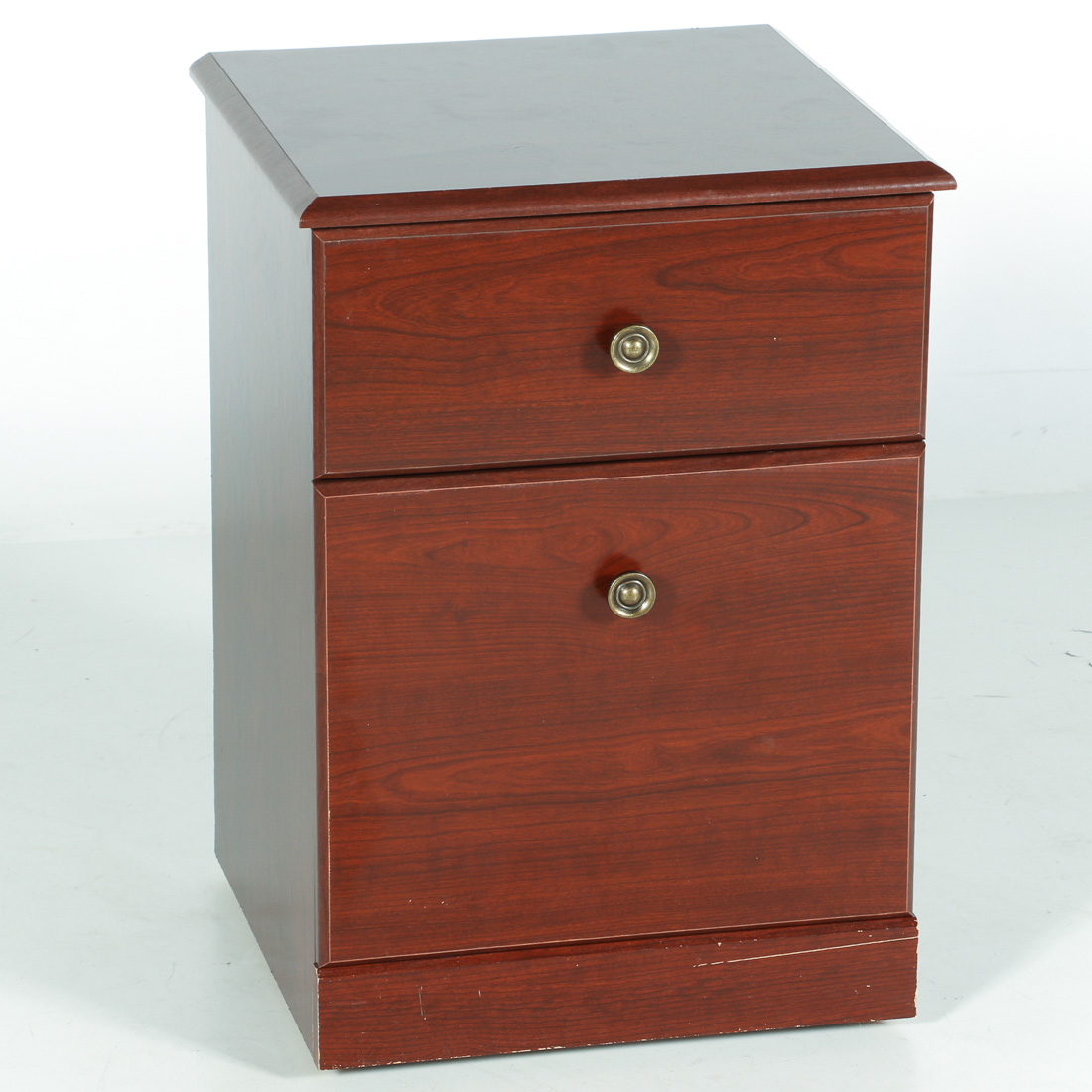Rolling Wood File Cabinet : EBTH