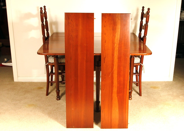 Cherry Dining Table And Pair Of Chairs By Tell City