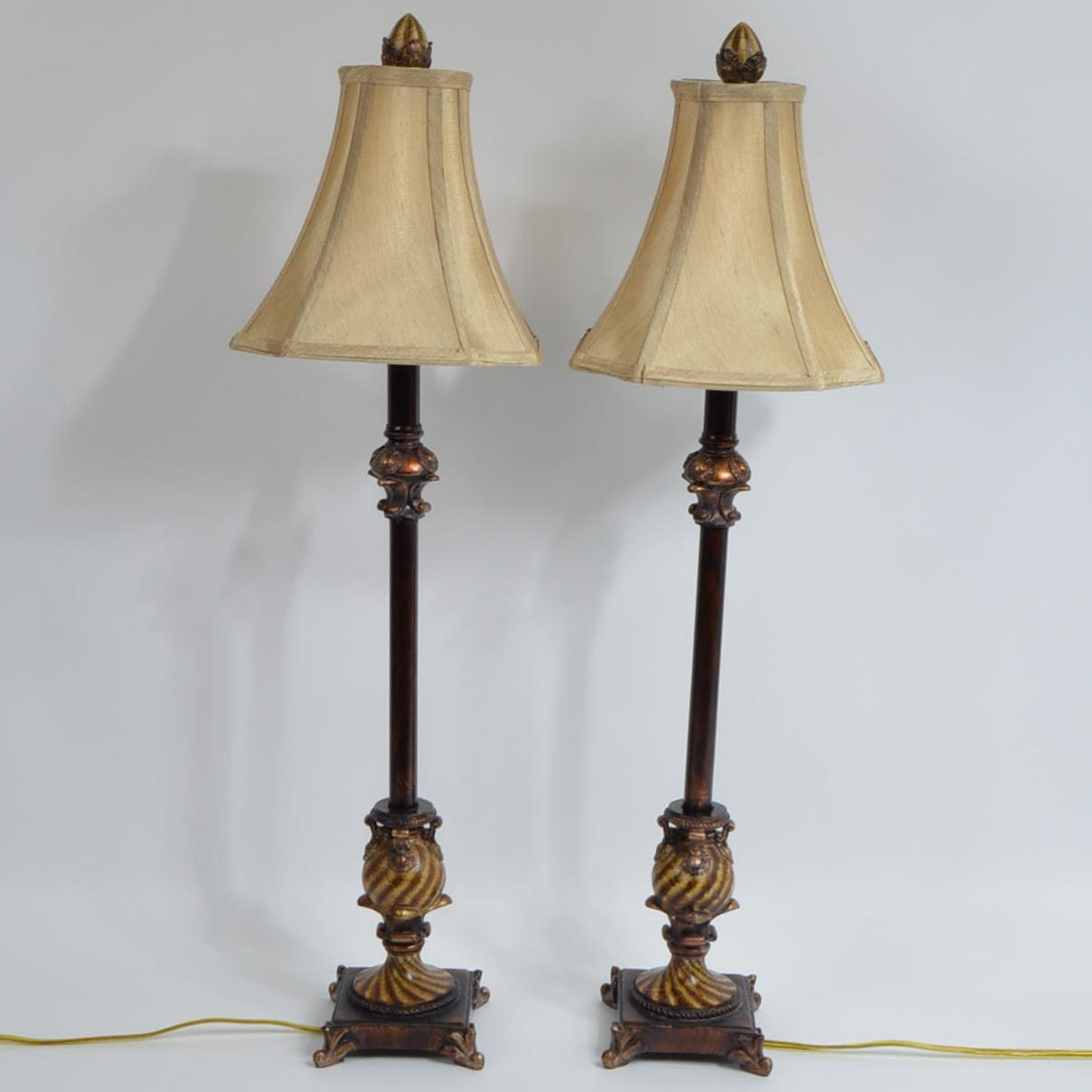 French Style Candlestick Table Lamps ...