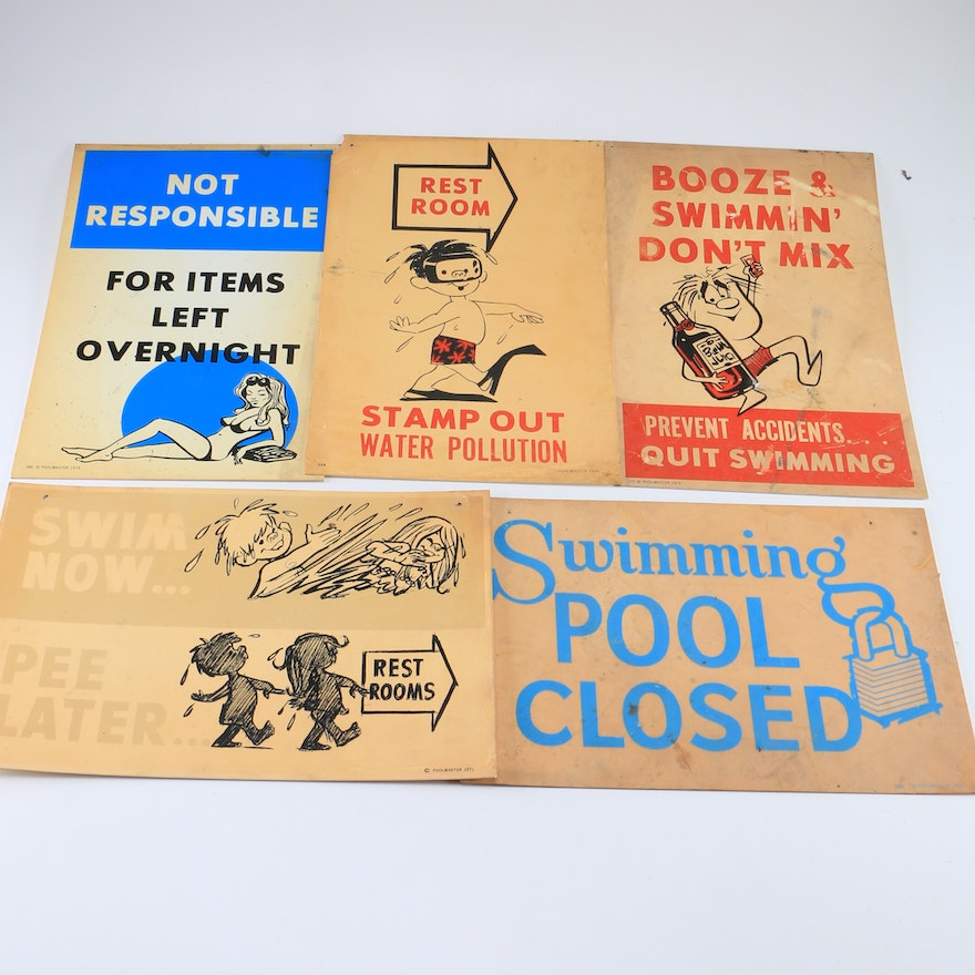 Collection of Vintage Poolmaster Signs : EBTH