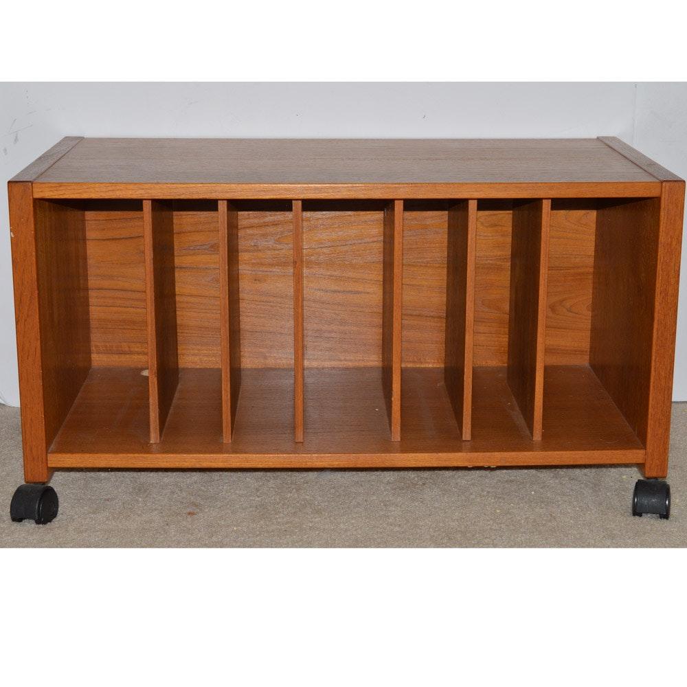 Danish Modern Teak Vinyl Record Storage Table ...