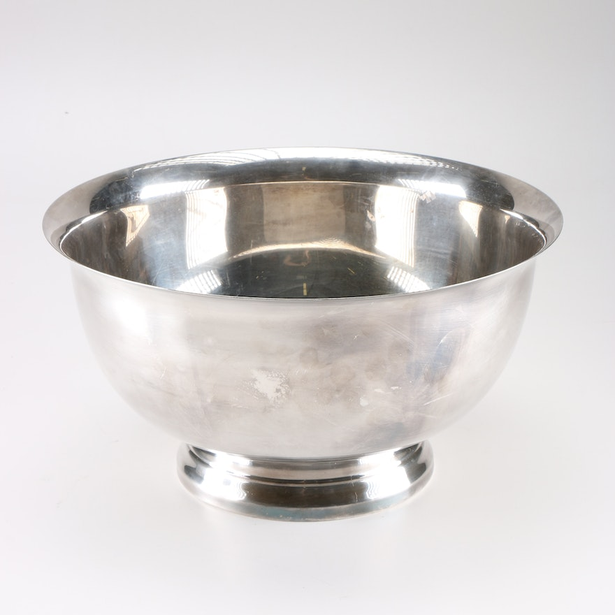 Silver Plated Paul Revere Bowl By Reed Barton Ebth
