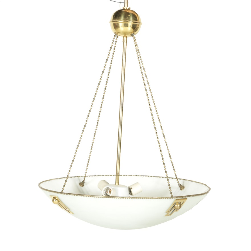 Frosted glass bowl chandelier ebth frosted glass bowl chandelier aloadofball Images