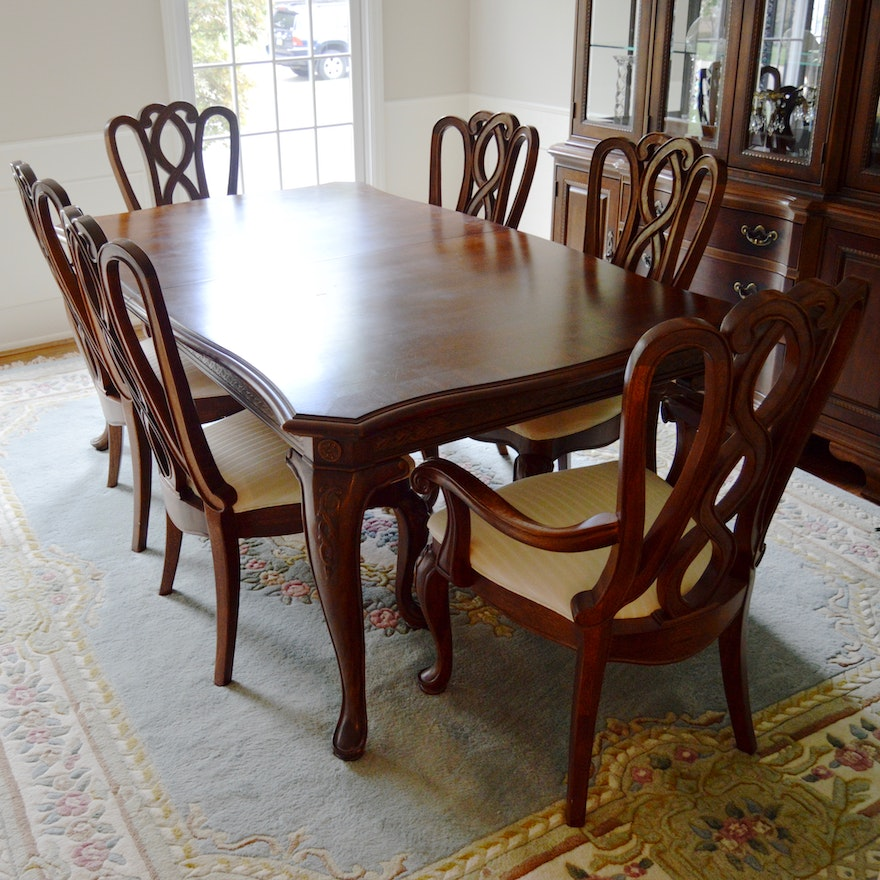 Formal Dining Room Table and Chairs by American Drew