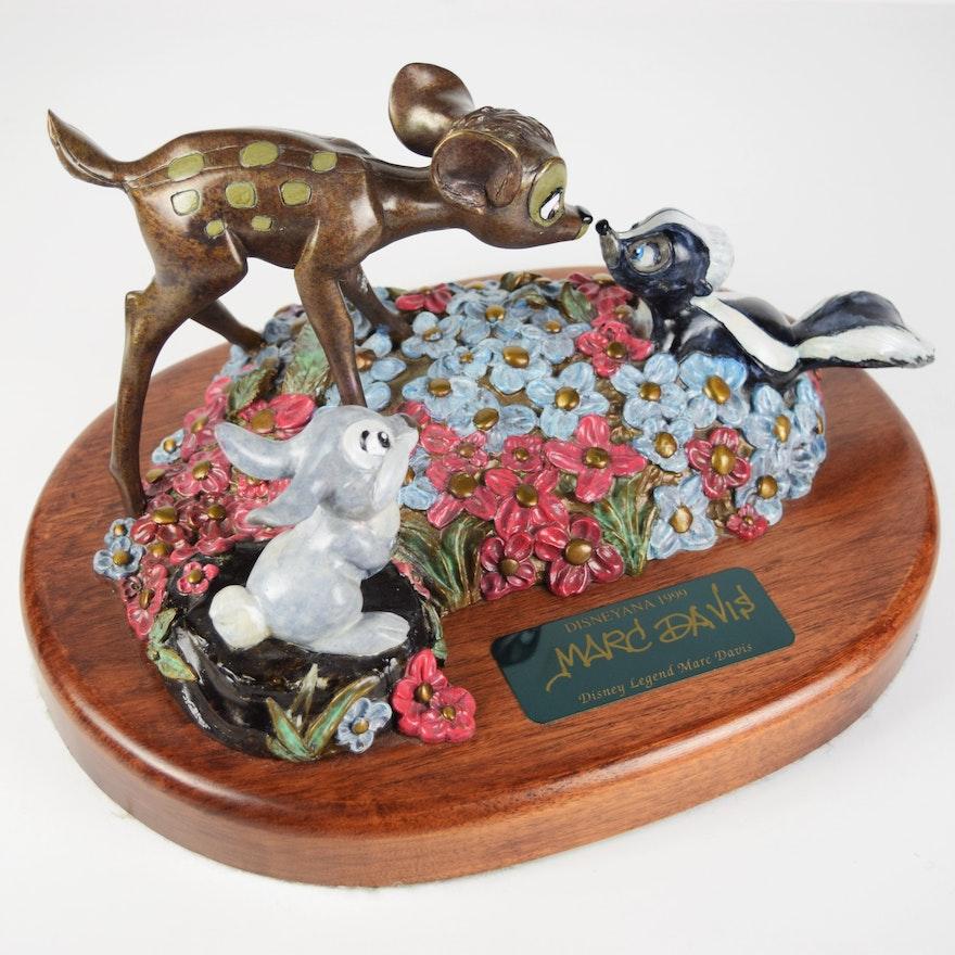 "Rare Disneyana 1999 ""You Can Call Me Flower"" Bambi and Thumper Bronze"