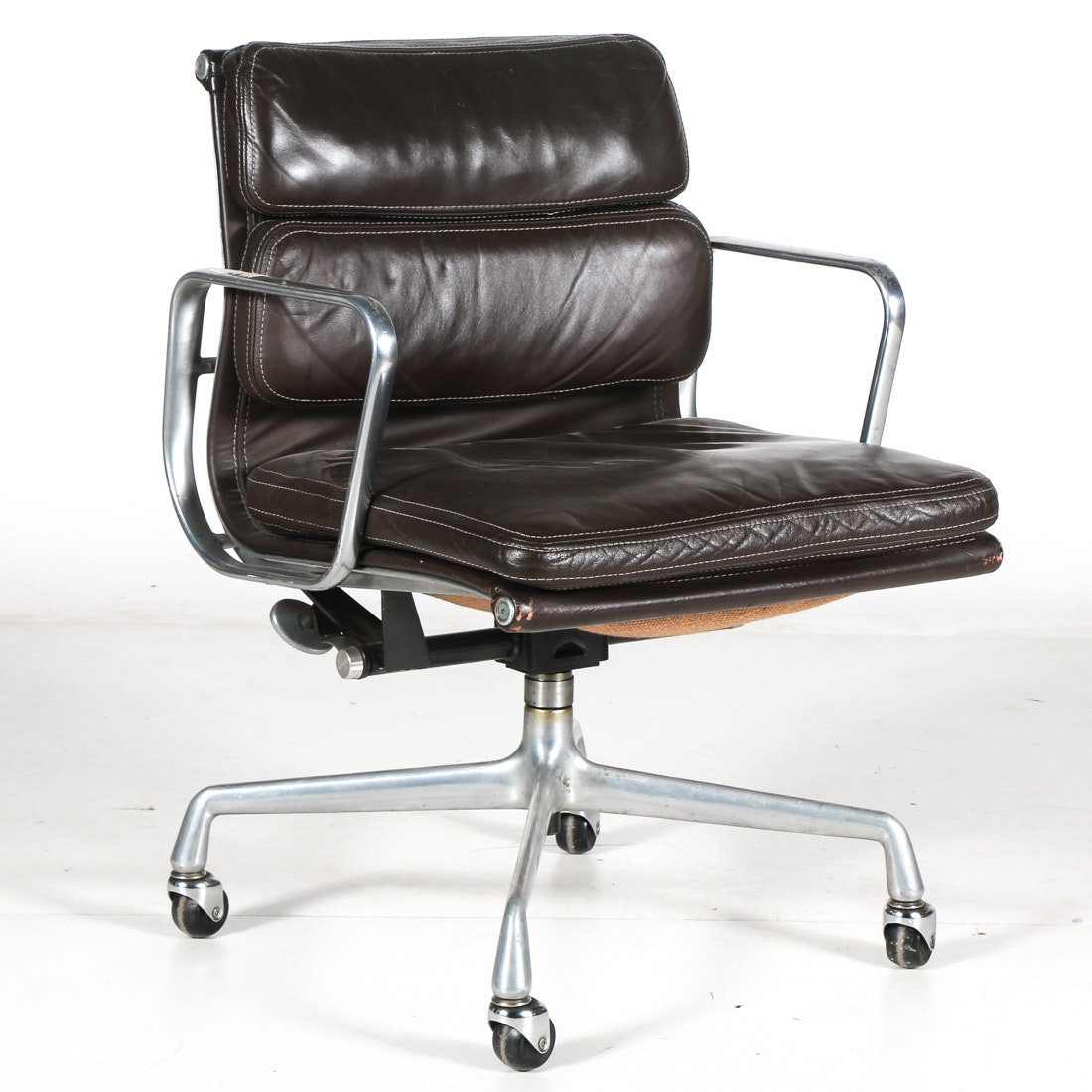 Herman Miller Eames Aluminum Group Leather Armchair ...