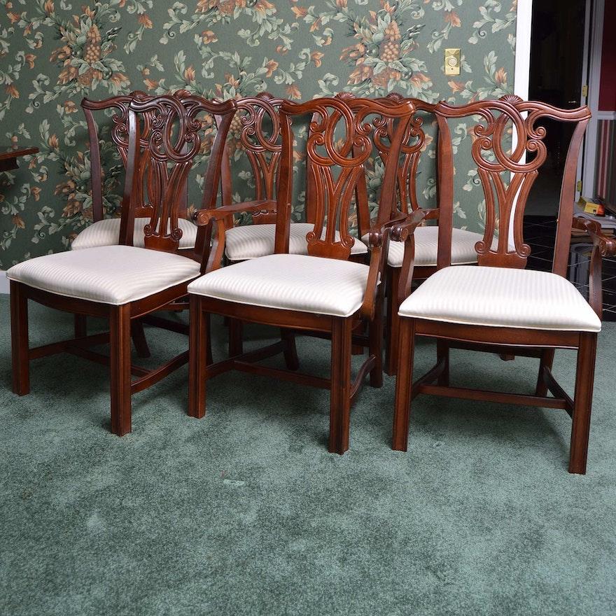 Terrific Ribbon Back Cherry Dining Chairs Short Links Chair Design For Home Short Linksinfo