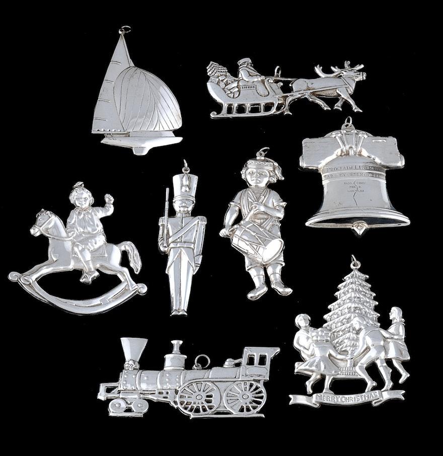 "Gorham Sterling Silver ""American Heritage"" Christmas ..."