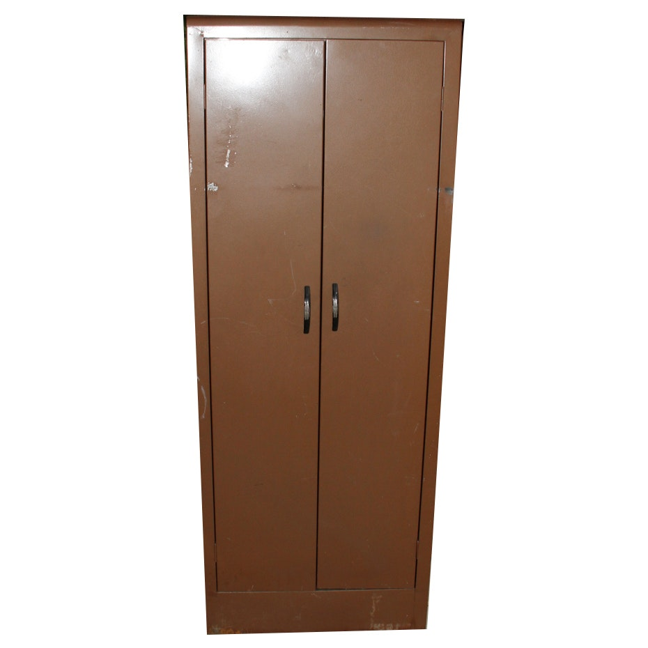 Vintage Alabama Metal Products Co. Brown Metal Cabinet; 1x1 ...