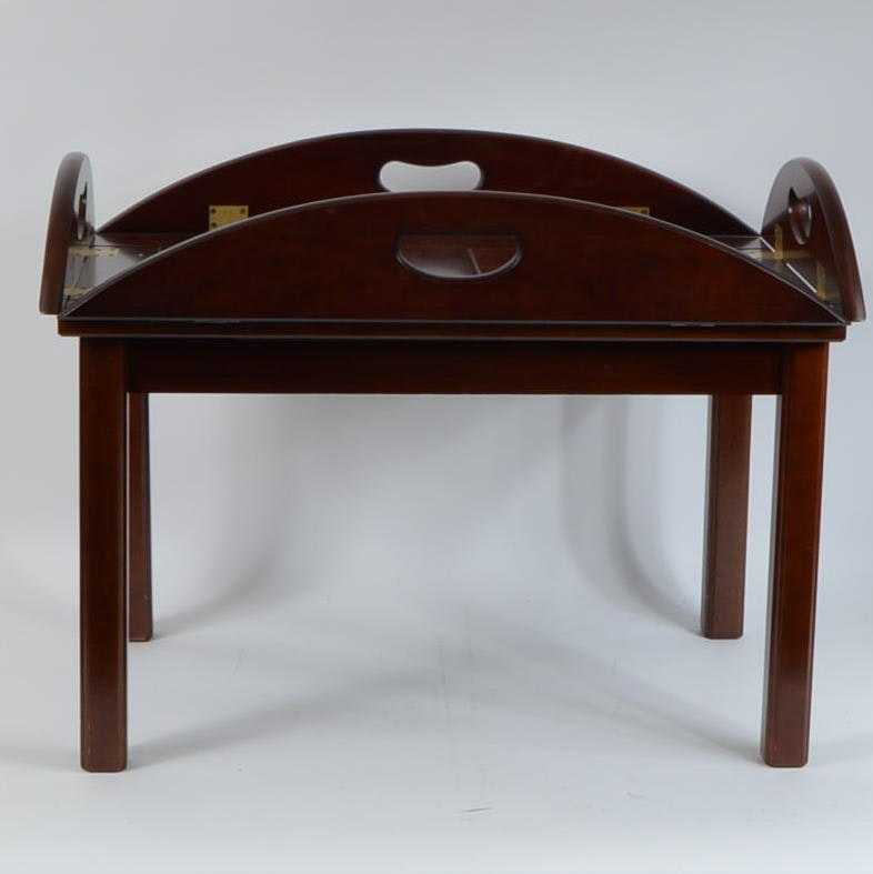 Bombay Furniture Company Cherry Butlers Tray Table ...