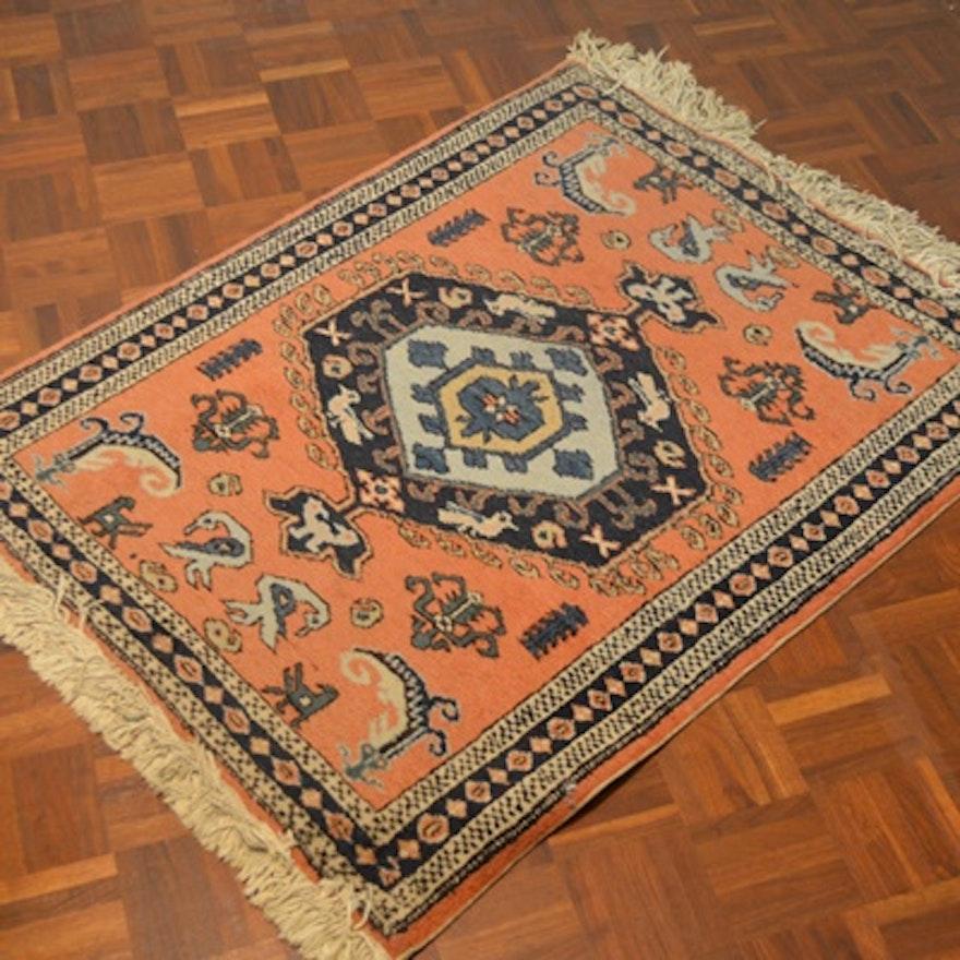 Persian Hand Woven Bakhtiari Style Wool Area Rug Ebth: Handwoven Meshkin Wool Rug
