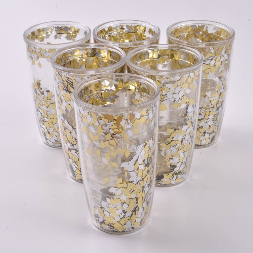0cdfcb662b5 Set of Silver and Gold Confetti 16oz Tervis Insulated Tumblers : EBTH