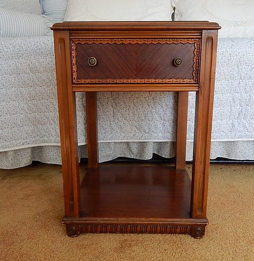 single drawer night stand ebth. Black Bedroom Furniture Sets. Home Design Ideas
