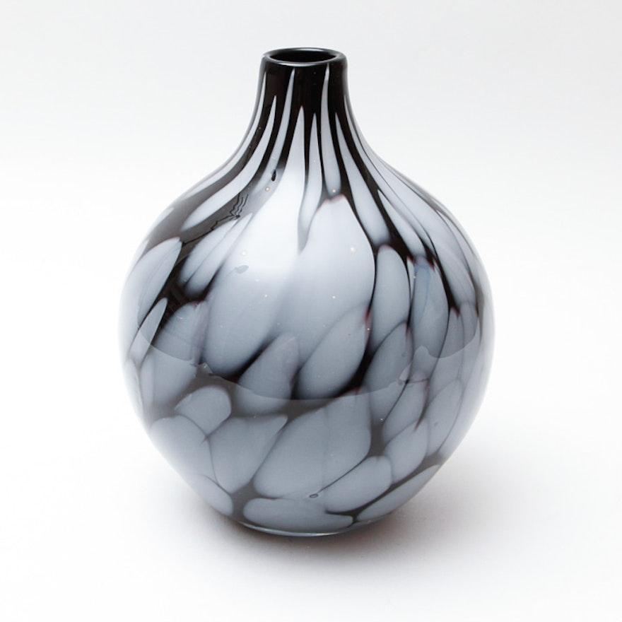 Makora Krosno Blown Glass Vase Ebth