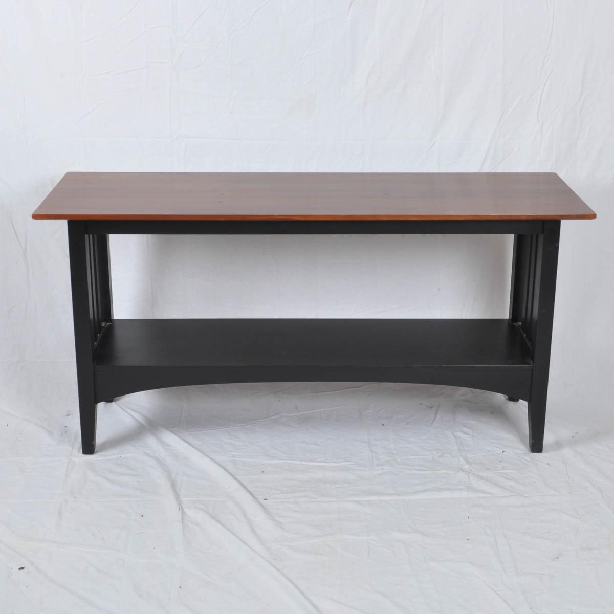 ethan allen american impressions sofa table : ebth