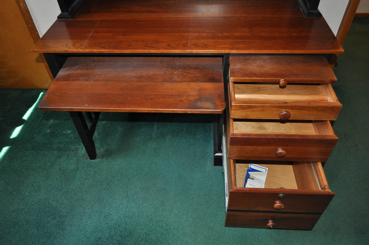 Ethan Allen American Impressions Desk With Hutch Ebth
