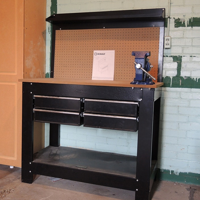 Wilton Bench Vise Kobalt Work Bench and ...