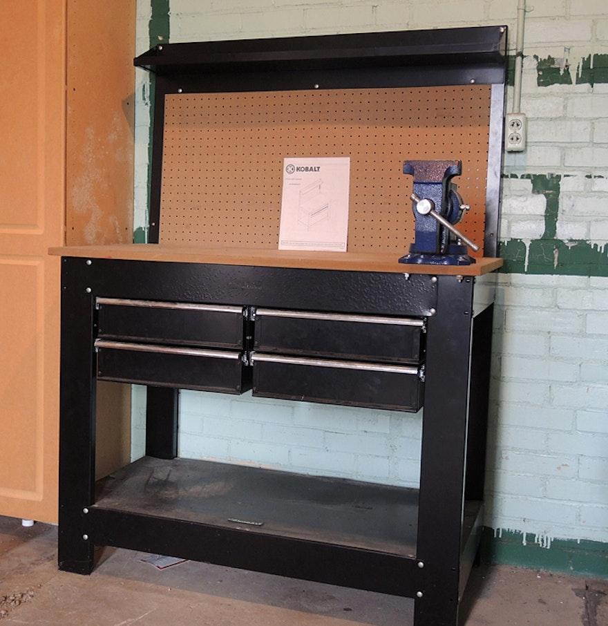 Kobalt Work Bench And Wilton Vise Ebth