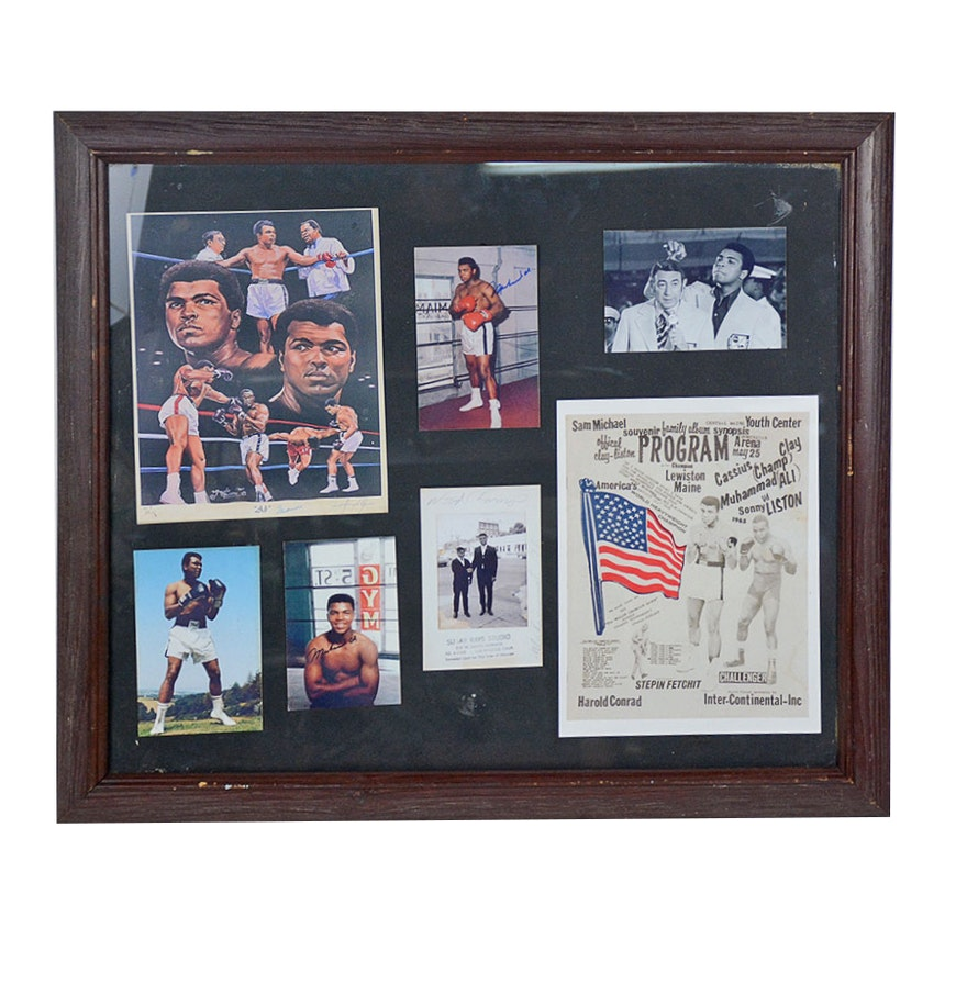 commemorative muhammad ali framed print collection - Muhammad Ali Framed Pictures