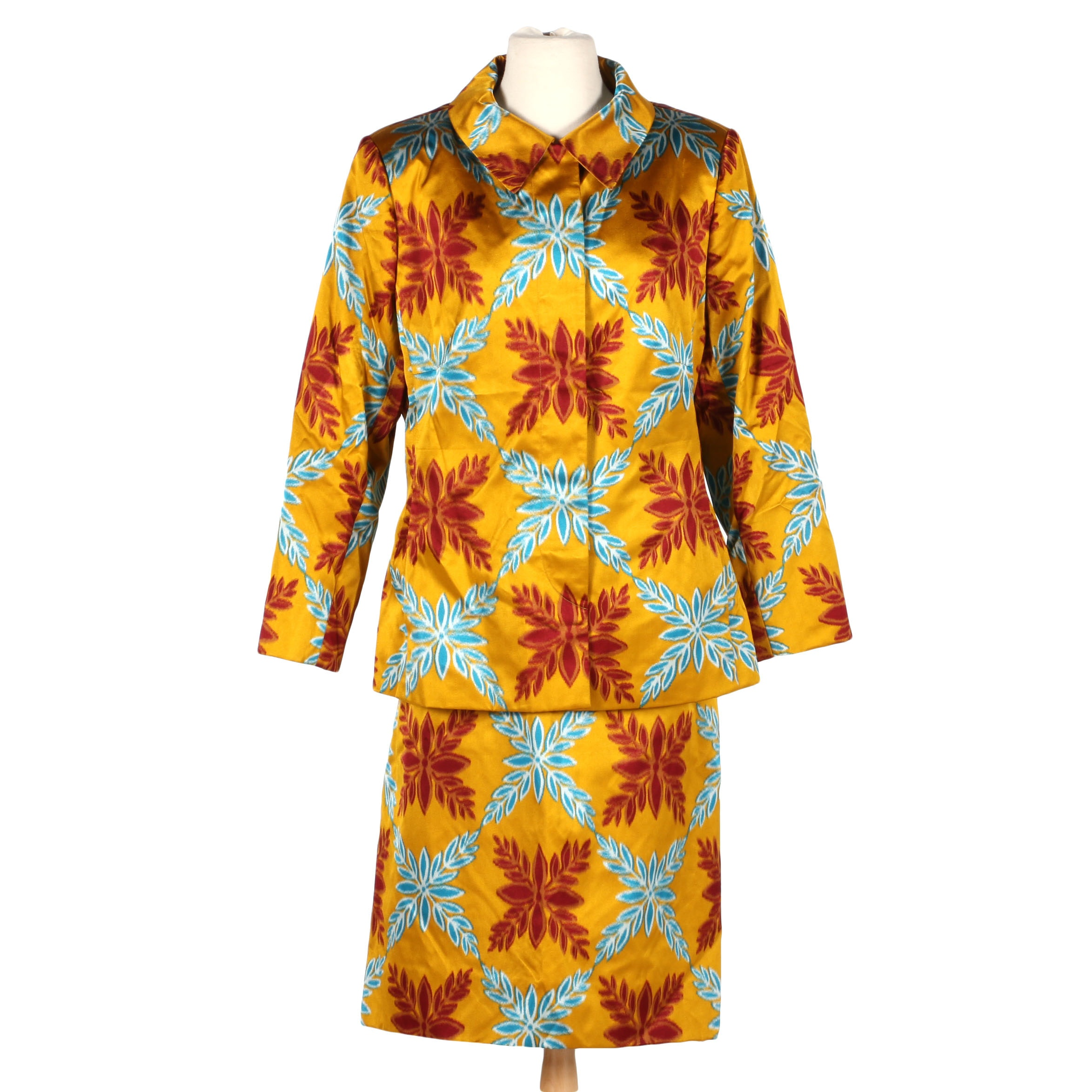 Colorful Bill Blass Skirt Suit