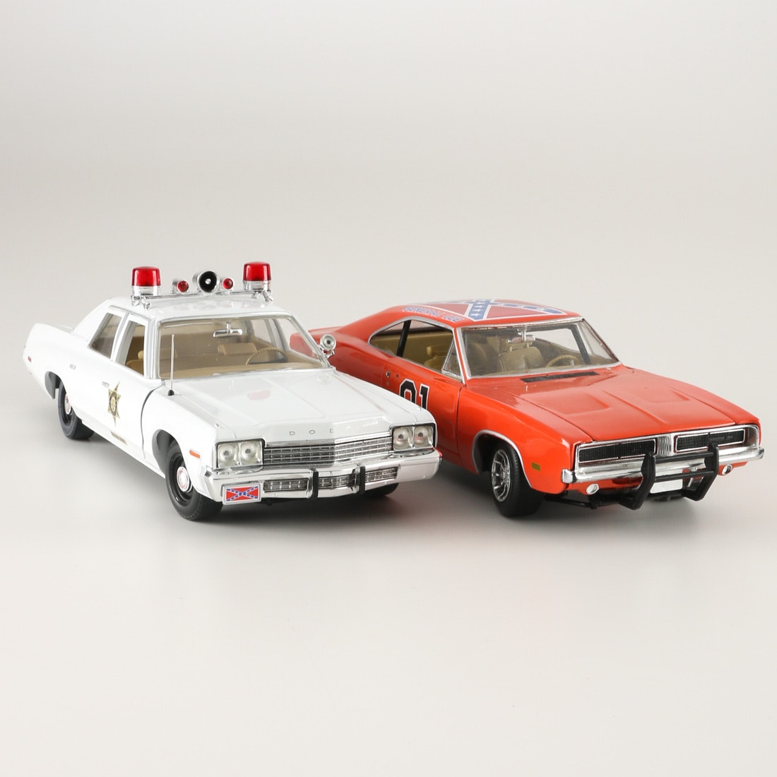 """Die-Cast """"Dukes Of Hazzard"""" Sheriff""""s And """"General Lee"""