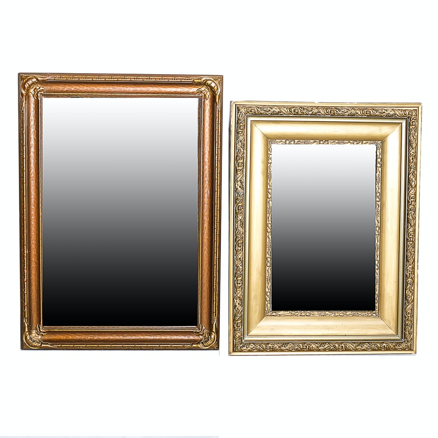 453eb280259 Pair of Ornate Vintage Mirrors with Wooden Frames   EBTH