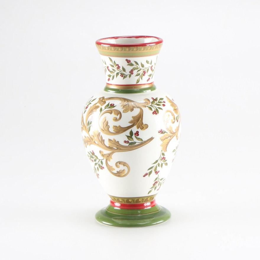Laura Ashley Ceramic Vase Ebth