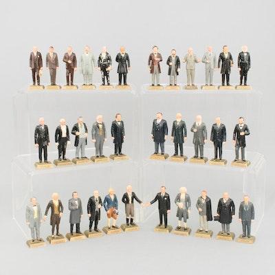 Marx Toys 1960s Era Presidential Figurines with Duplicates