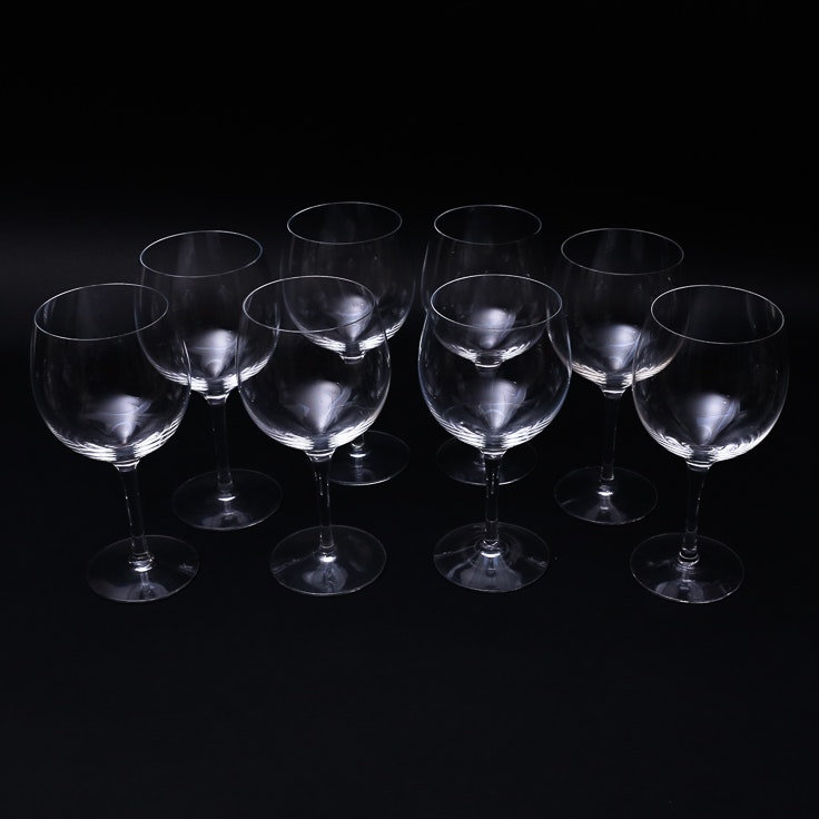 Eight Tiffany & Co. Crystal Wine Glasses