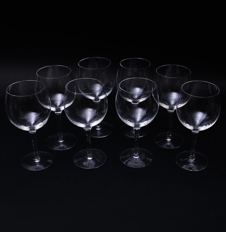 Eight Tiffany Co Crystal Wine Glasses Ebth