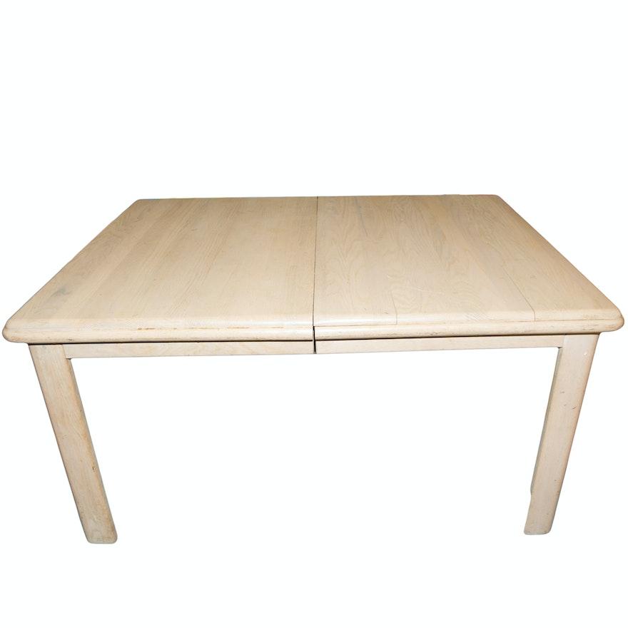 Modern Whitewashed Oak Dining Table EBTH - White washed oak dining table