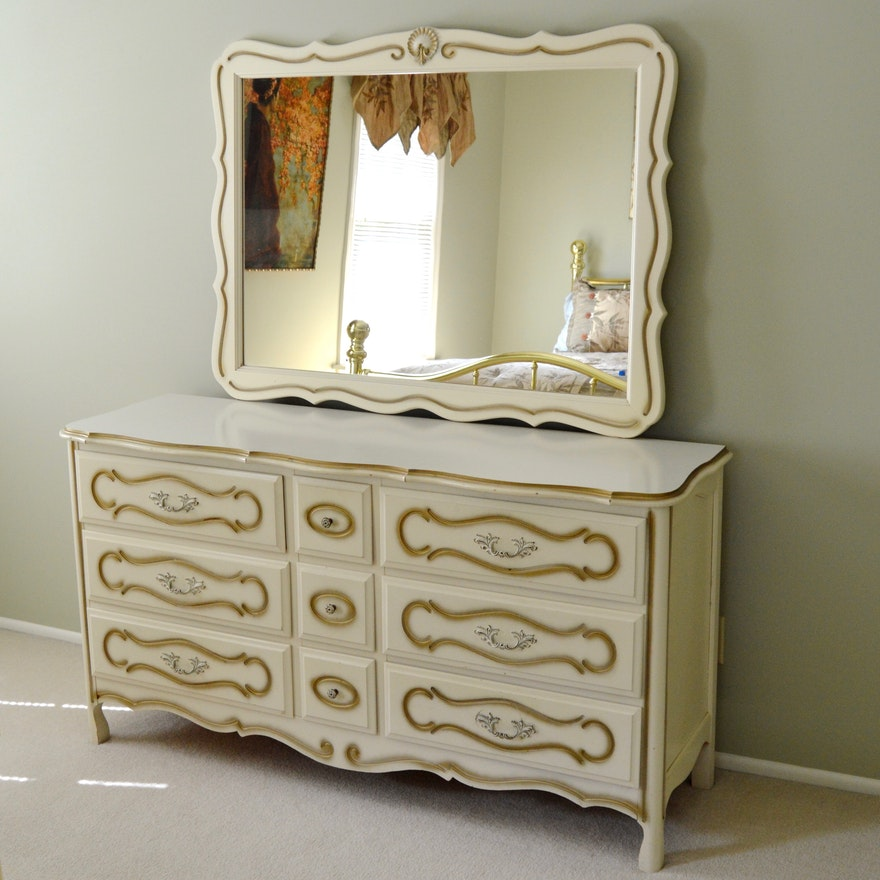 Vintage Bedroom Dresser With Mirror Circa 1967