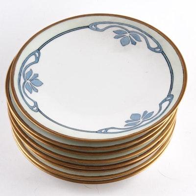 Set of J.P. Limoges Art Deco Plates