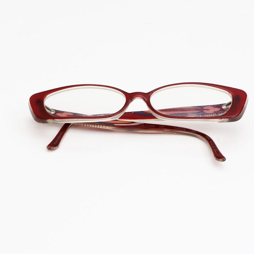 Judith Leiber Eyeglasses Embellished with Swarovski Crystals : EBTH