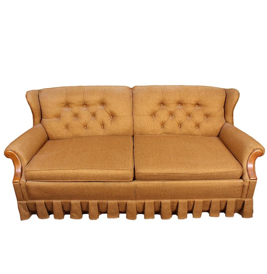 Retro Burnt Orange Convertible Sleeper Sofa By Kroehler Ebth