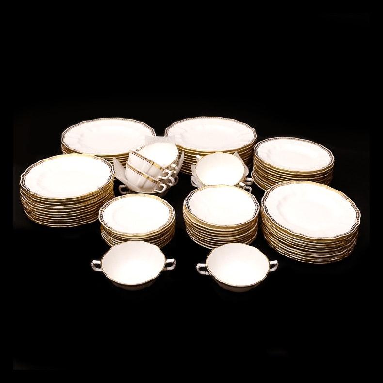 Set of Royal Crown Derby English Bone China in Carlton Gold