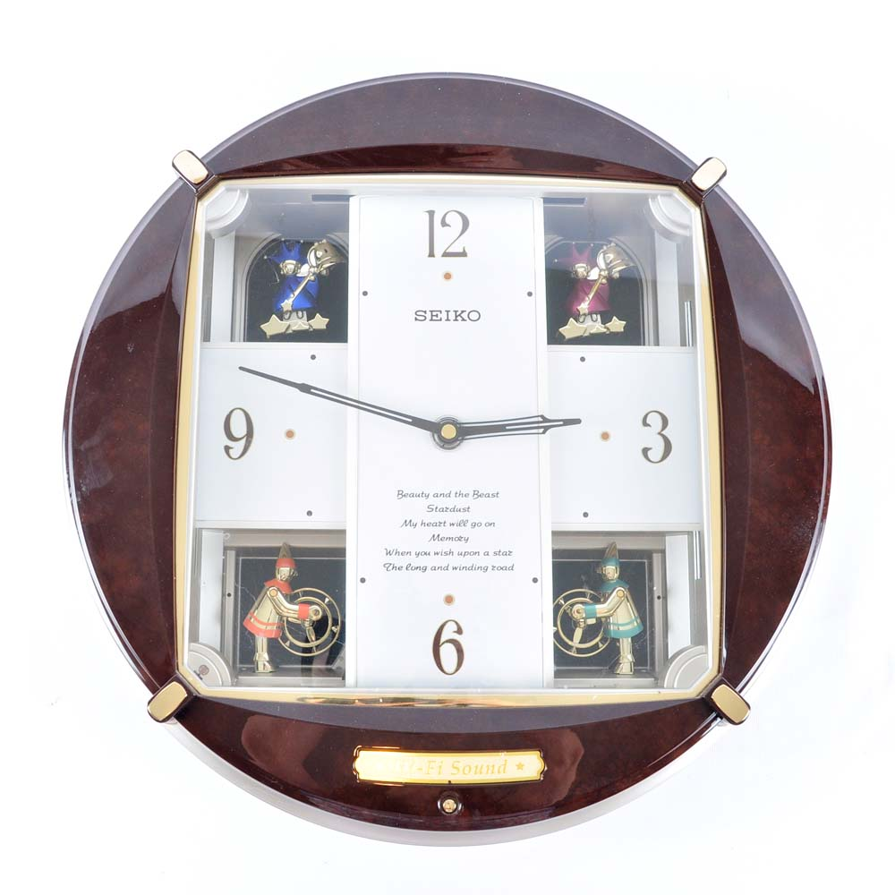 Seiko melodies in motion wall clock seiko melody in motion musical wall clock ebth amipublicfo Gallery