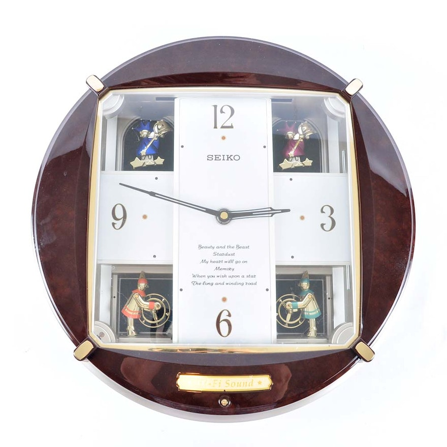 Seiko Melody In Motion Musical Wall Clock Ebth