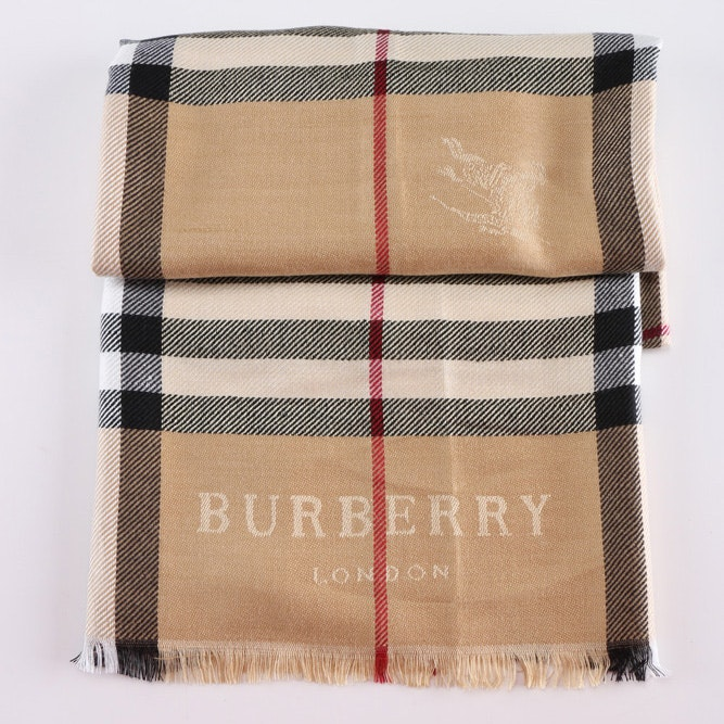 """Burberry """"Raspberry Sorbet Check"""" Scarf with Tags"""